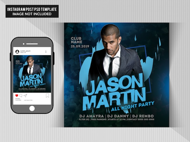 Flyer dj party PSD Premium