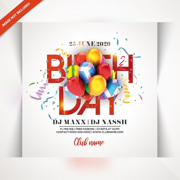 Flyer Fête D'anniversaire PSD Premium