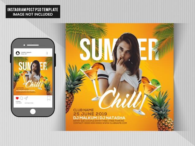 Flyer fête d'été PSD Premium