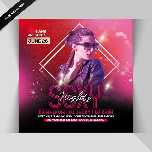 Flyer fête de nuit sexy PSD Premium
