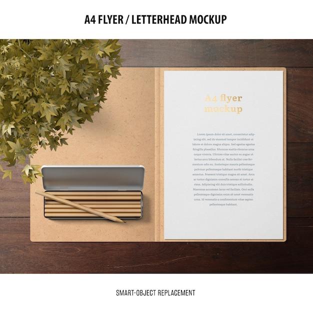 Flyer Ou Maquette De Papier à En-tête Psd gratuit
