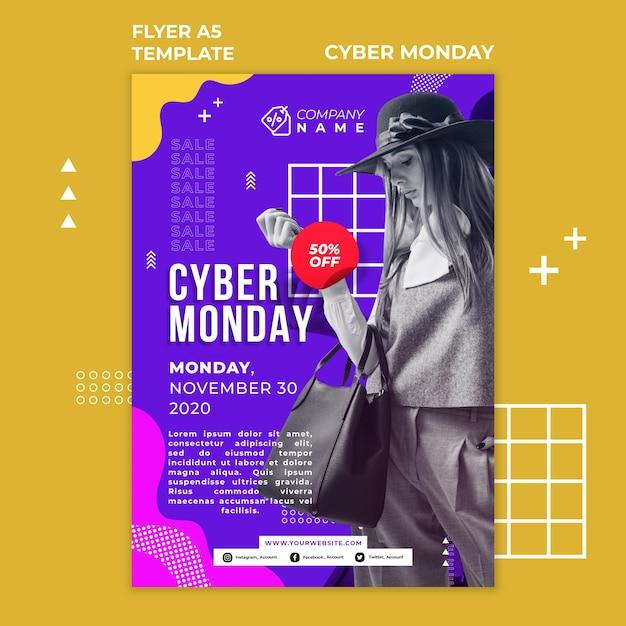 Flyer De Modèle Cyber Monday Psd gratuit
