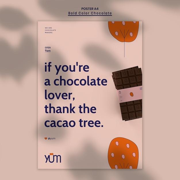 Flyer De Modèle De Magasin De Chocolat Psd gratuit