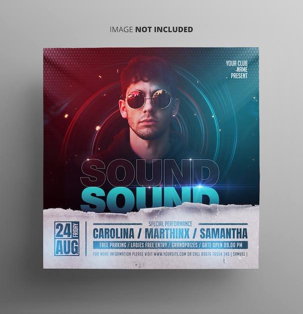Flyer De Musique Pour L'événement Sonore PSD Premium