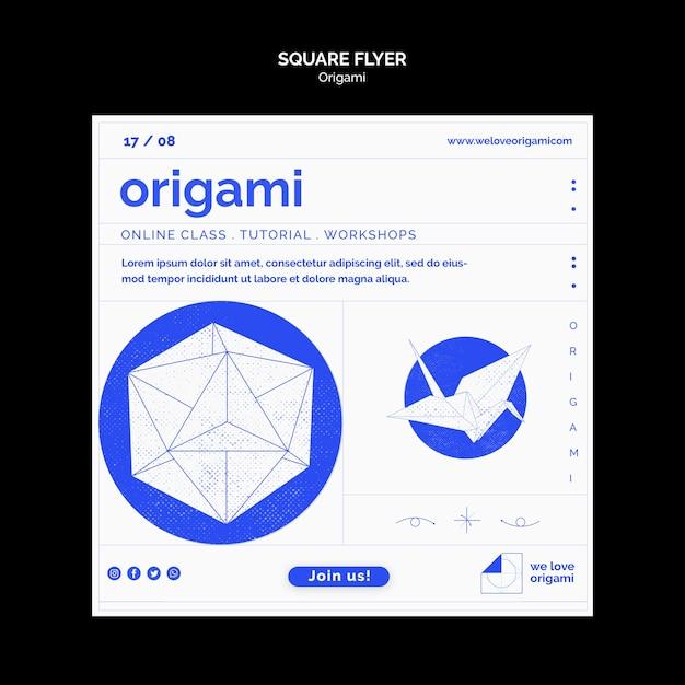 Flyer Origami Psd gratuit