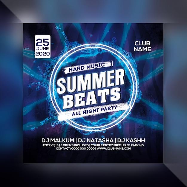 Flyer Party Summer Beat PSD Premium