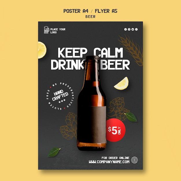 Flyer Pour Boire De La Bière Psd gratuit