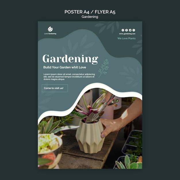Flyer Pour Le Jardinage Psd gratuit