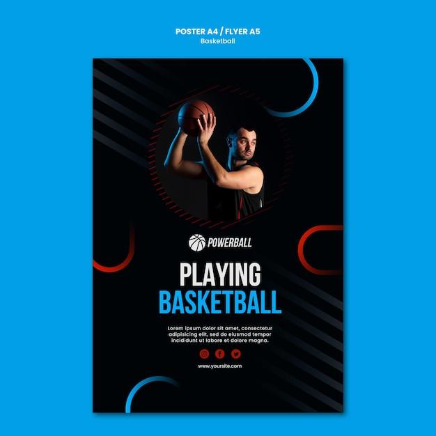 Flyer Pour Jouer Au Basket Psd gratuit