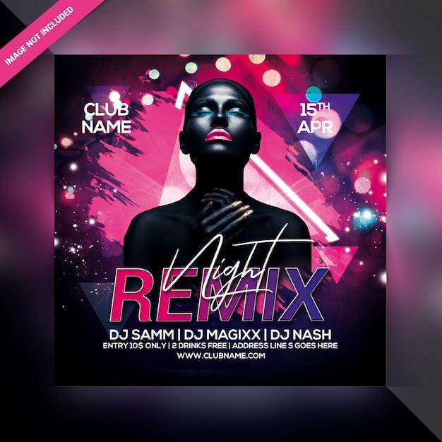 Flyer Remix Night Party PSD Premium