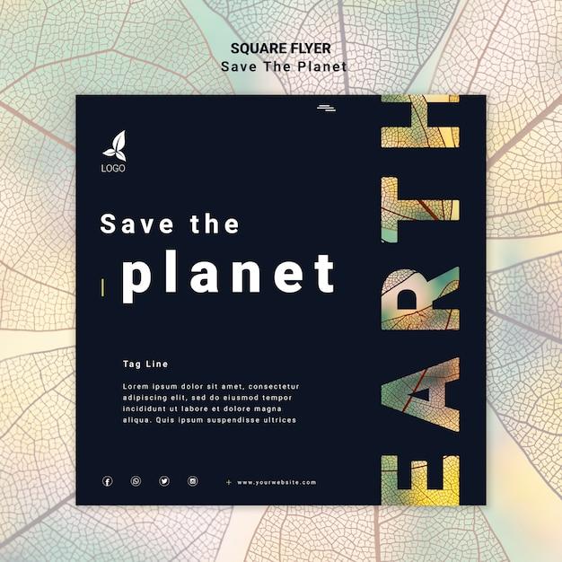 Flyer Sauver La Planète Psd gratuit