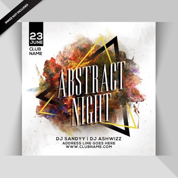 Flyer de soirée abstraite PSD Premium