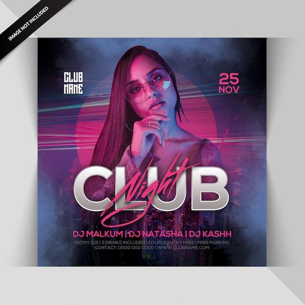 Flyer soirée club PSD Premium