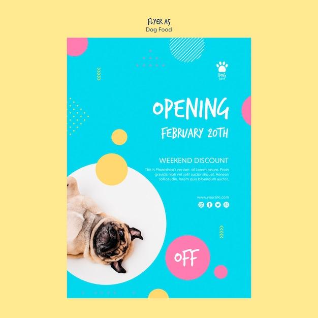 Flyer Style For Dog Food Sale Psd gratuit