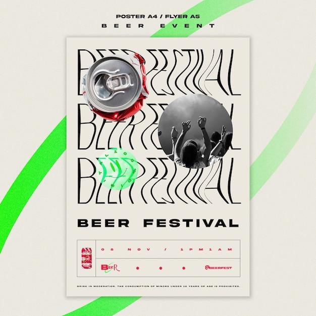 Flyer Vertical Pour Le Festival De La Bière Psd gratuit
