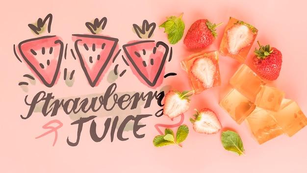 Fond D'été Plat Laïque Aux Fruits Exotiques Psd gratuit