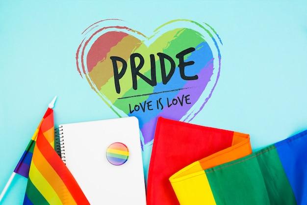 Fond De Fierté Gay Avec Le Drapeau Arc-en-ciel Psd gratuit