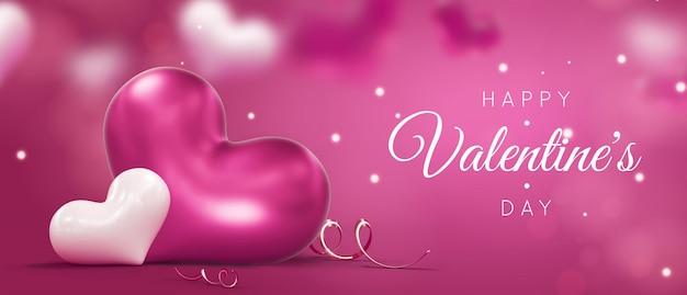 Fond De Jour De Décorations Saint Valentin Heureux PSD Premium