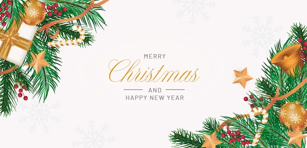 Fond De Joyeux Noël Réaliste Psd gratuit