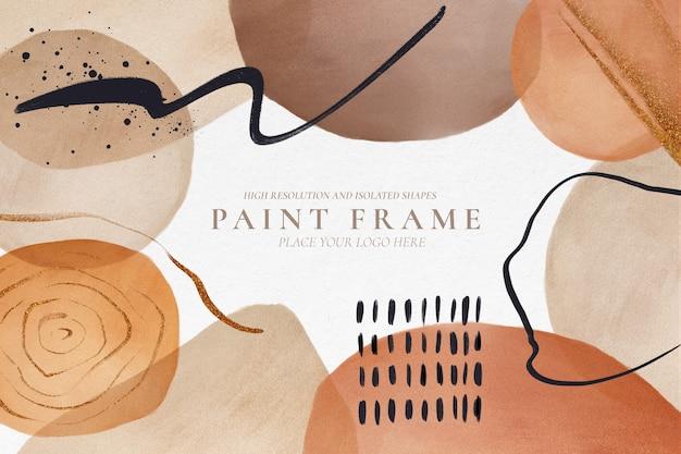 Fond Moderne Avec Des Formes Peintes Abstraites Psd gratuit