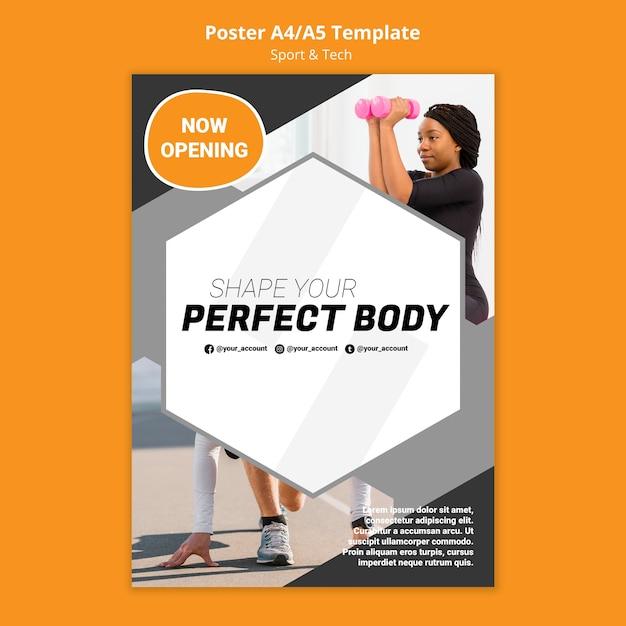 Formez Votre Modèle D'affiche D'entraînement Physique Psd gratuit