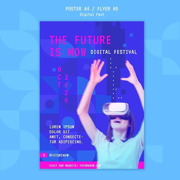 Le Futur Est Maintenant Un Modèle D'affiche Psd gratuit