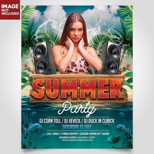 Gabarit Flyer Summer Beach Party PSD Premium