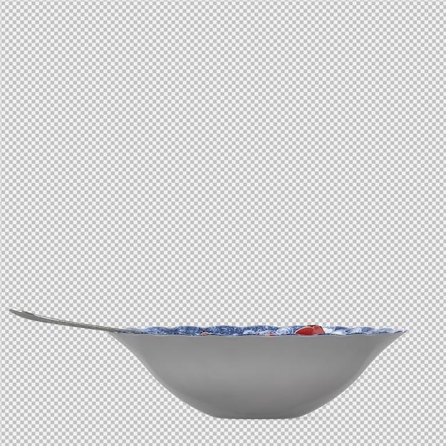 Gelée dessert 3d rendu isolé PSD Premium