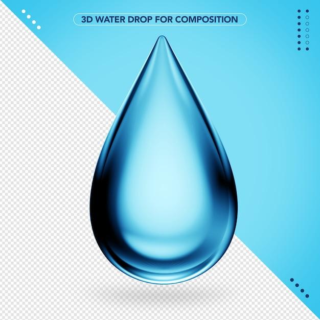Goutte D'eau Réaliste En 3d PSD Premium