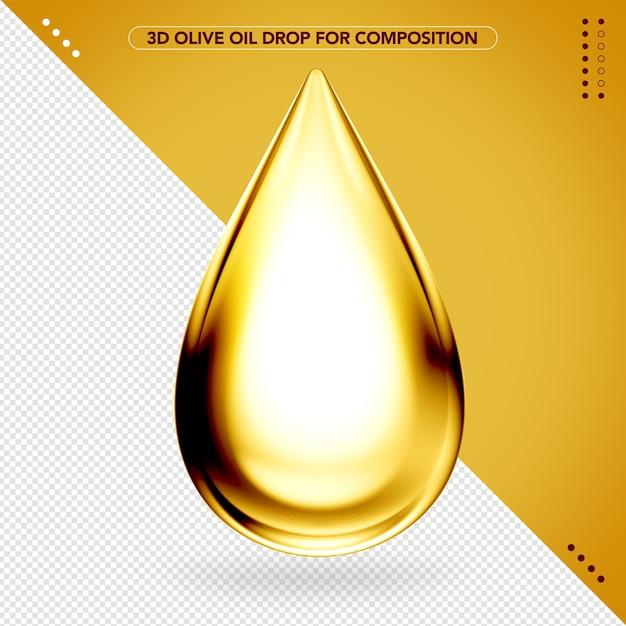Goutte D'huile D'olive 3d Pour Le Maquillage PSD Premium