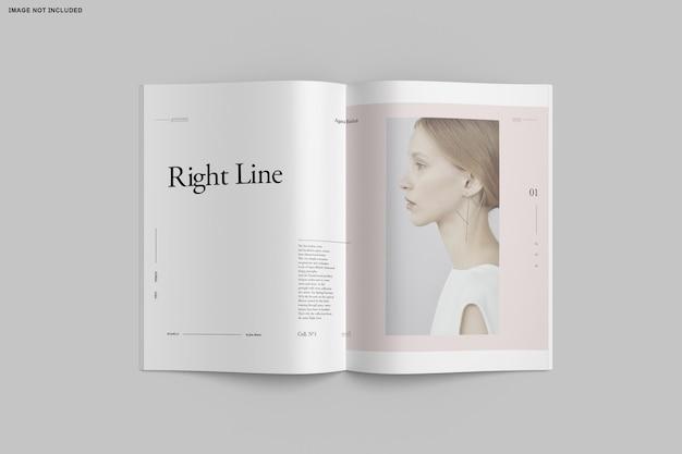 Gros Plan Sur Le Catalogue De Brochures à Deux Volets PSD Premium