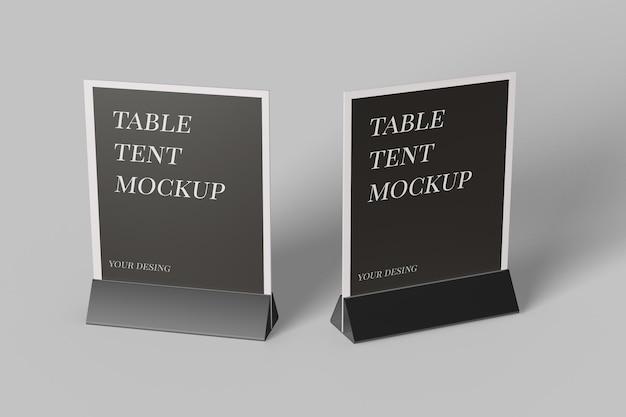 Gros Plan Sur La Conception De Maquette De Tente De Table Isolée PSD Premium