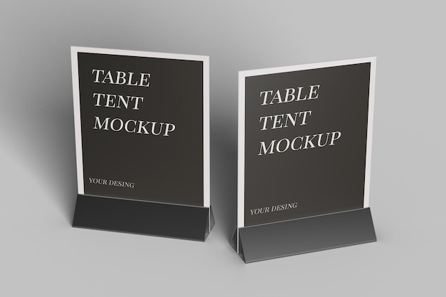 Gros Plan Sur La Conception De Maquette De Tente De Table Isolée PSD Premium