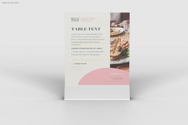 Gros Plan Sur La Conception De Maquette De Tente De Table PSD Premium