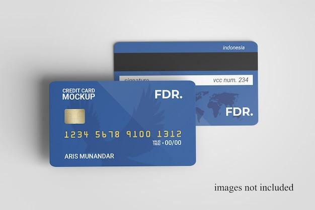 Gros Plan Sur La Maquette De Cartes De Crédit Debout PSD Premium