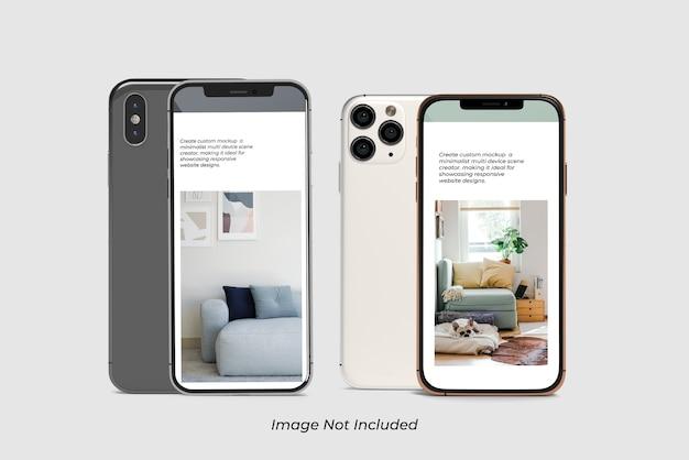 Gros Plan Sur La Maquette De Smartphone Isolé PSD Premium