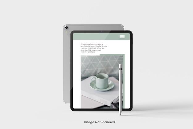 Gros Plan Sur La Maquette De La Tablette Isolée PSD Premium