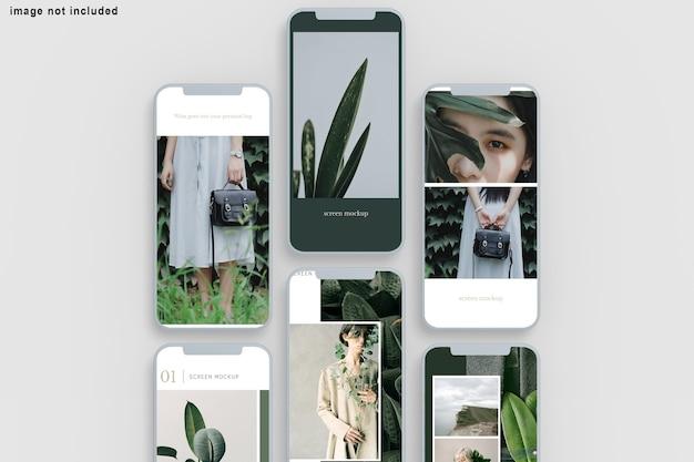 Gros Plan Sur La Maquette De Téléphone écran Isolé PSD Premium