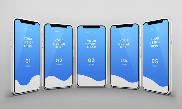 Gros Plan De La Maquette De Téléphones Intelligents PSD Premium
