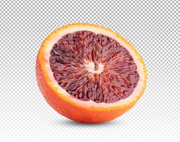 Gros Plan Sur La Moitié D'orange Sanguine Isolée PSD Premium