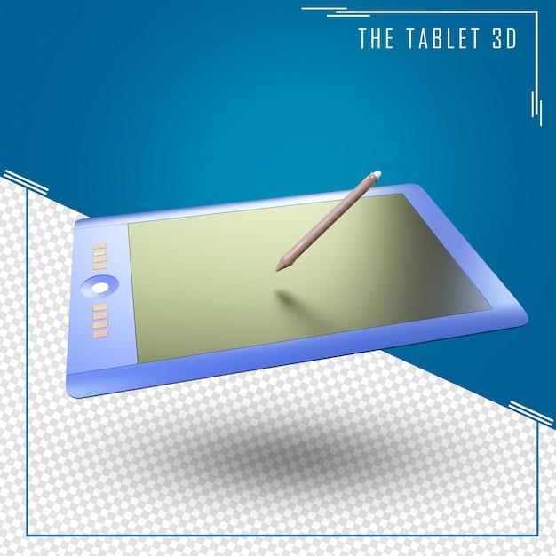 Gros Plan Sur Le Rendu 3d De Tablette Isolé PSD Premium
