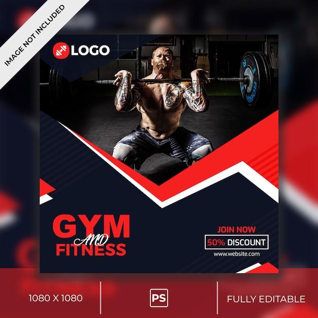 Gym Social Media Post PSD Premium