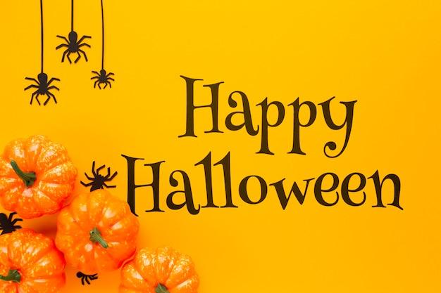Heureux jour d'halloween et vue d'automne Psd gratuit