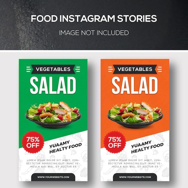 Histoires alimentaires instagram PSD Premium