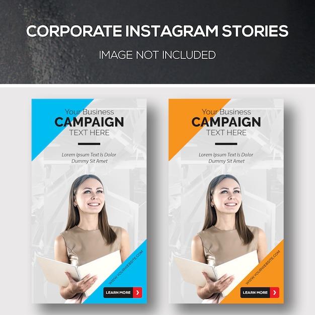 Histoires d'entreprise instagram PSD Premium