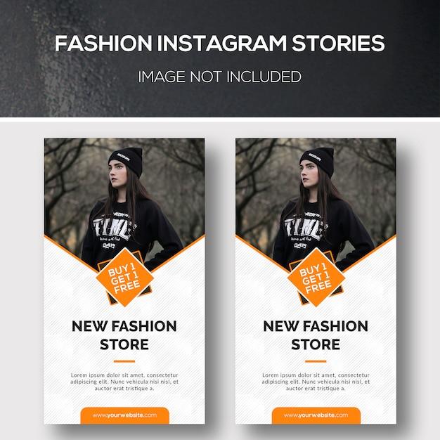 Histoires Fashion Instagram PSD Premium