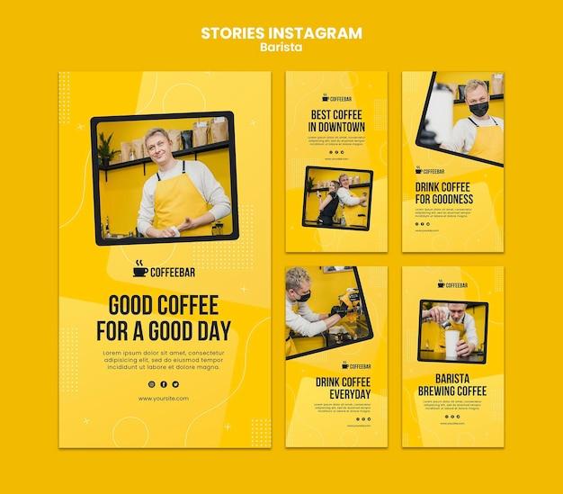 Histoires Instagram De Barista PSD Premium
