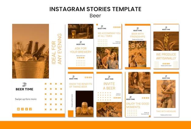Histoires Instagram Sur La Bière Psd gratuit