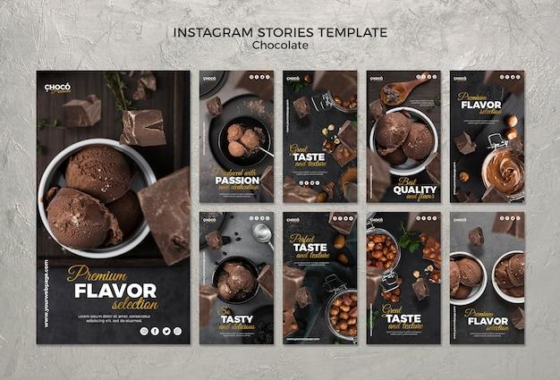 Histoires Instagram De Concept De Chocolat Psd gratuit