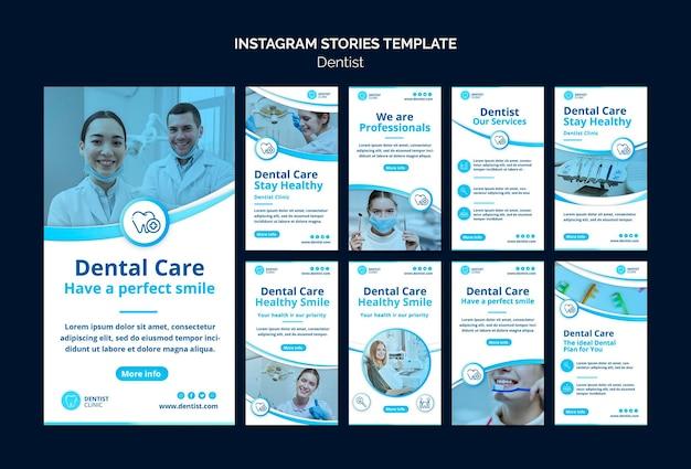 Histoires Instagram De Dentiste Psd gratuit